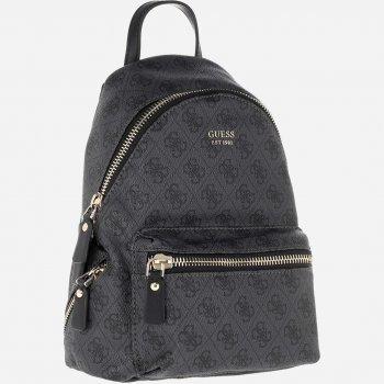 Жіноча сумка-рюкзак Guess Leeza Logo 961 Чорна (2000029587573)
