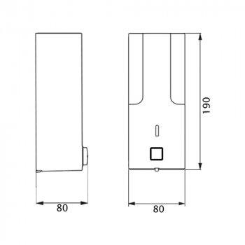 Диспенсер для рідкого мила Lidz (PLA)-120.01.01
