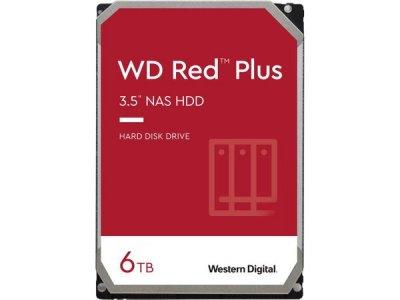 Жесткий диск Western Digital Red Plus 6TB 5400 rpm 128 MB WD60EFZX 3.5 SATA III HDD