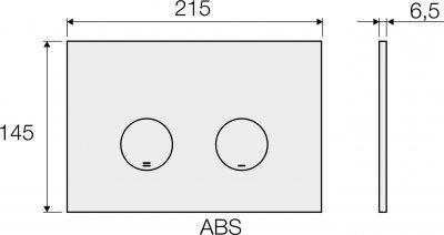 Панель смыва VALSIR Tropea S P4 VS0869335 хром