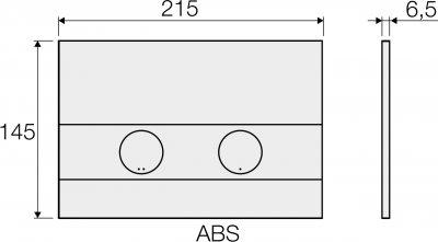 Панель смыва VALSIR Tropea S P5 VS0869435 хром