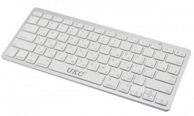 Ультра тонка бездротова Bluetooth клавіатура Wireless Keyboard UKC X5 PC/Android Silver (X5)
