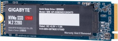 Gigabyte 128GB M.2 2280 NVMe PCIe 3.0 x4 NAND TLC (GP-GSM2NE3128GNTD)