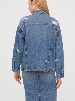 Джинсовая куртка H&M 06-0687856-001 Синяя