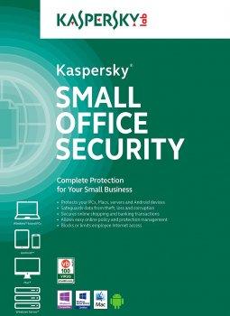 Антивирус Kaspersky Small Office Security лицензия на 1 год для защиты 15 рабочих станций, 2 файловых серверов и 15 мобильных устройств (KL4541OCMFS)
