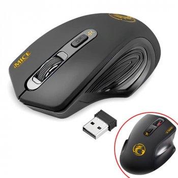 Бездротова ігрова миша Gapotgroup мишка ТИХА 2000dpi iMice G-1800, чорна