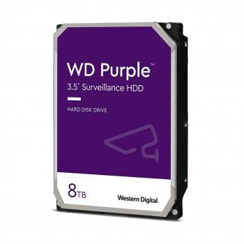"""Дисковий накопичувач внутрішній Western Digital Western Digital 3.5"""" Purple 8ТВ 3,5"""" SATAIII 5400 об/хв Сріблястий (WD84PURZ)"""