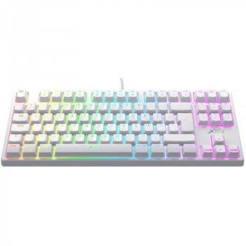 Клавиатура Xtrfy K4 TKL RGB Kailh Red Ukr-Ru White (XG-K4-RGB-TKL-WH-R-UKR)