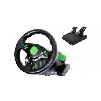Игровой руль с педалями Ipega 3в1 Vibration Steering Wheel для PS3/PS2/PC