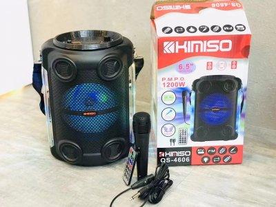 """Колонка портативная с Проводным микрофоном KIMISO QS-4606 BT(6. 5""""BASS) Bluetooth / Колонка ручная для музыки"""