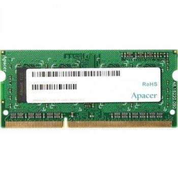 Пам'ять SoDDR3 4GB Apacer 1600MHz PC3-12800 1.35V Bulk (AS04GFA60CATBGJ)