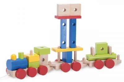 Конструктор Wonderworld Поезд с веревочкой (WW-1200) (8851285112009)