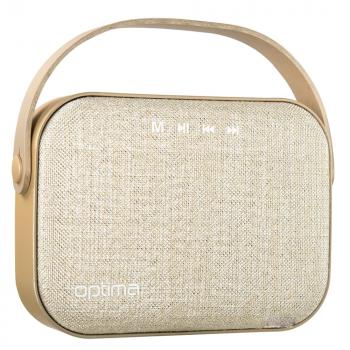 Портативна Bluetooth колонка Optima MK-11 Gold (23648)