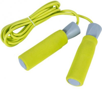 Скакалка LiveUP PVC Foam Handle Jump Rope Жовтий (LS3118)