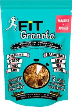 Упаковка граноли Good morning Granola Fit Малина + Аронія 125 г х 6 шт. (4820192180146)