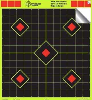 Мішень для стрільби флюрисцентная Splatterburst 30х30 см (12х12 дюймів) Ромби