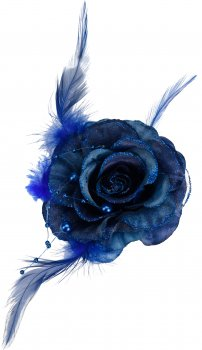 Ялинкова іграшка Home & Styling Collection Троянда 8х3 см Синя (DH8045310_blue)