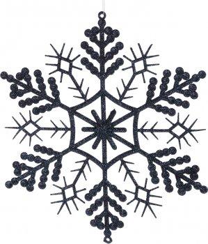 Елочные игрушки Christmas Decoration Снежинка 28х28 см Темно-синяя (AWR105260_dark_blue_small)