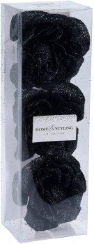 Набор елочных игрушек Home & Styling Collection 6х6х6 см 3 шт Черный (CAA722460_dark)