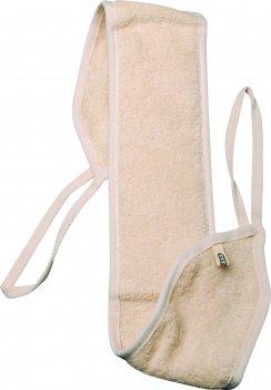 Мочалка лазнева масажна з люфи та бавовни у формі ременя Titania 70 х 11 см (7405) (4008576389488)