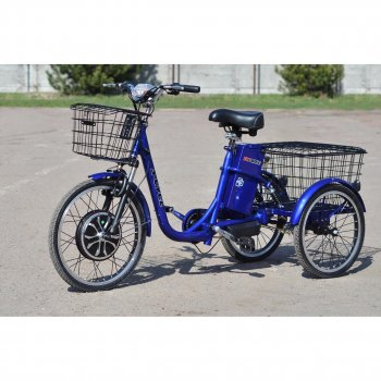 Електровелосипед (трицикл) Skybike 3-Cycle синій
