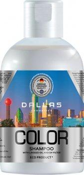 Шампунь для окрашенных и поврежденных волос Dallas Color Protecting с льняным маслом и УФ-фильтром 1 л (4260637723369)
