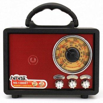 Радиоприемник NNS NS-1386BT радио в ретро стиле usb TF AUX bluetooth Черный корпус
