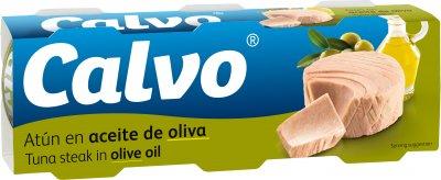 Тунец Calvo в оливковом масле 80 г х 3 шт (8410090217646)