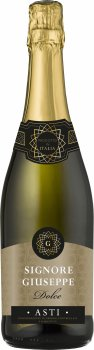 Игристое вино Signore Giuseppe Docg Asti Spumante Bianco New Pack белое сладкое 0.75 л 7.5% (8052783850473)