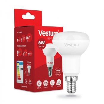 Лампа LED Vestum R50 6W 4100K 220V E14 (1-VS-1402)