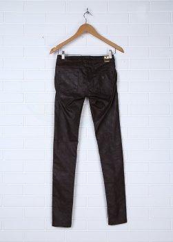 Демисезонные зауженные брюки Guess Los Angeles коричневые (136702643)