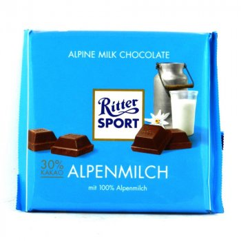 Шоколад молочный Ritter Sport Alpine Milk Альпийский 100 г