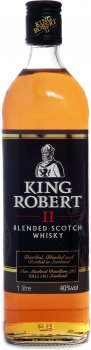 Виски King Robert II Blended Scotch Whisky 1 л 40% (5010852004328)