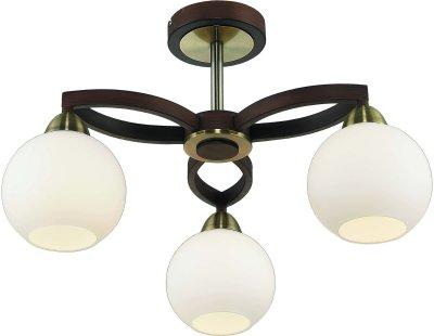 Стельовий світильник Altalusse INL-9268C-03 Antique brass & Walnut E27 3х40Вт