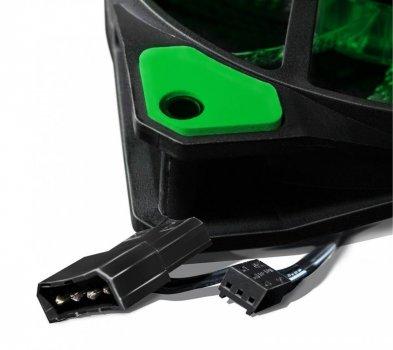 Вентилятор Frime Iris LED Fan 33LED Green (FLF-HB120G33); 120х120х25мм, 3-pin+4-pin