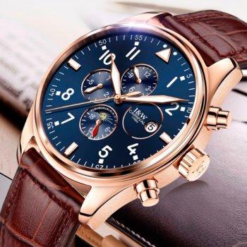 Мужские механические часы Carnival Grand 43х10 мм Коричневый с золотистым 8701