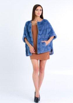 Полушубок BG-Furs из меха норки Сапфировый