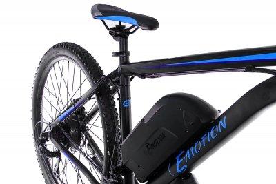 """Електровелосипед E-motion MTB 27,5"""" GT 36V 12Ah 500W / рама 19"""" чорно-синій (E275193612500-BB)"""