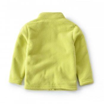 Кофта для мальчика флисовая утеплённая Тико Berni Салатовый (52521)
