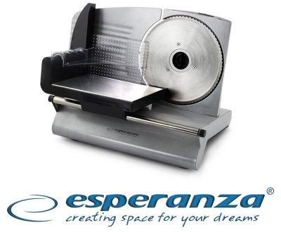 Слайсер електрическая ломтерезка Esperanza Mortadella EKM0 150W для тонкой нарезки продуктов 0-15 мм (7594HZ)