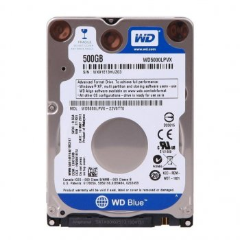 """Жорсткий диск для ноутбука 2.5"""" 500GB Western Digital (WD5000LPCX)"""