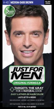 Краска для волос мужчин JUST FOR MEN (H40) - Средний тёмный коричневый 66 мл.
