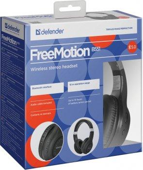 Навушники Defender FreeMotion B551 Bluetooth Black (63551)