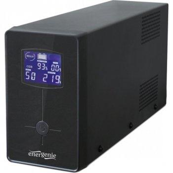 Блок безперебійного живлення EnerGenie EG-UPS-032, LCD дисплей, USB порт, 850VA, чорний колір