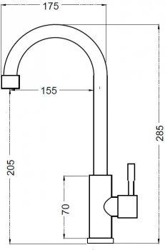 Кран кухонний SILVER Basis SLIN0451