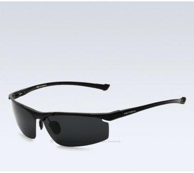 Очки мужские солнцезащитные поляризованные VEITHDIA. Черные линзы, черныедужки и оправа Veithdia (949875714)