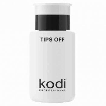 Рідина для зняття гель лаку, акрилу Tips off Kodi Professional 160 мл з помпою