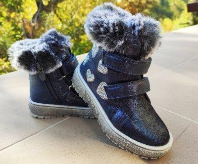 Дитячі стильні черевички Казка R657037302 DB синього кольору