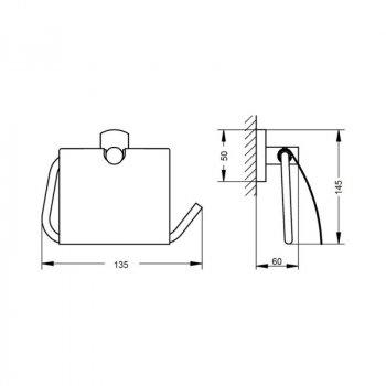 Тримач для туалетного паперу Q-tap Liberty CRM 1151
