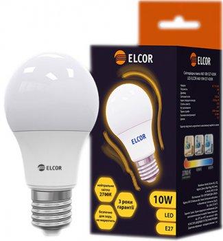 Світлодіодна лампа ELCOR LED A60 10W E27 2700K (EL-534320)